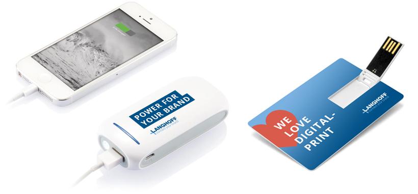 Elektroniske gadgets med logo