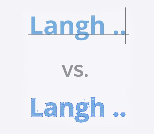 Outlines font til tryk - reklameartikler