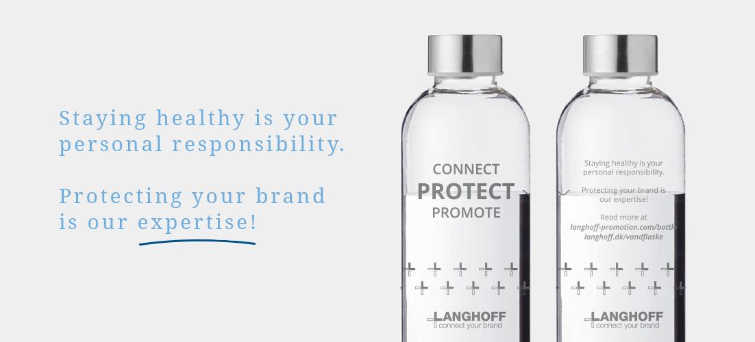 Langhoff Promotion reklamegave - vandflaske