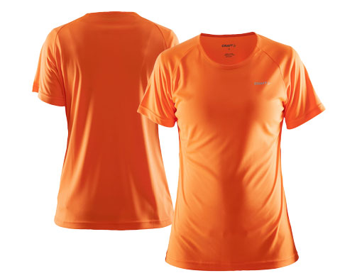 Craft løbetrøje med tryk - orange