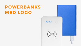Powerbanks med logo