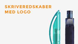 Skriveredskaber med logo