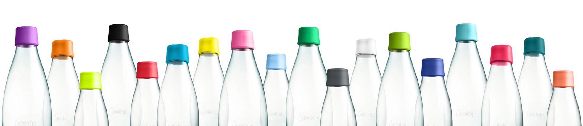 Retap vandflaske farver
